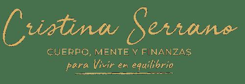 Logo cristina Serrano Franco - para vivir en equilibrio